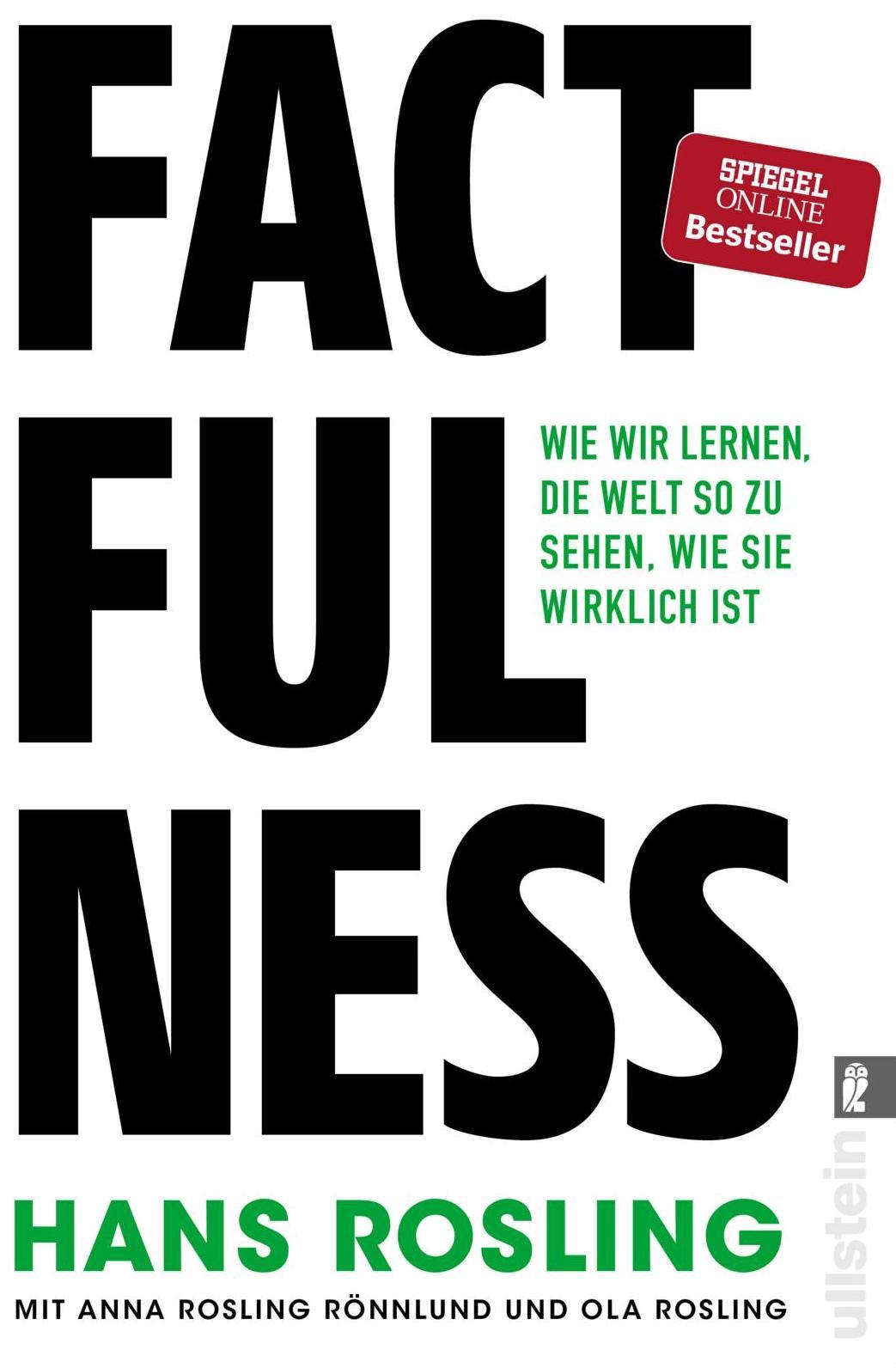 Buchcover der deutschen Übersetzung von Factfulness