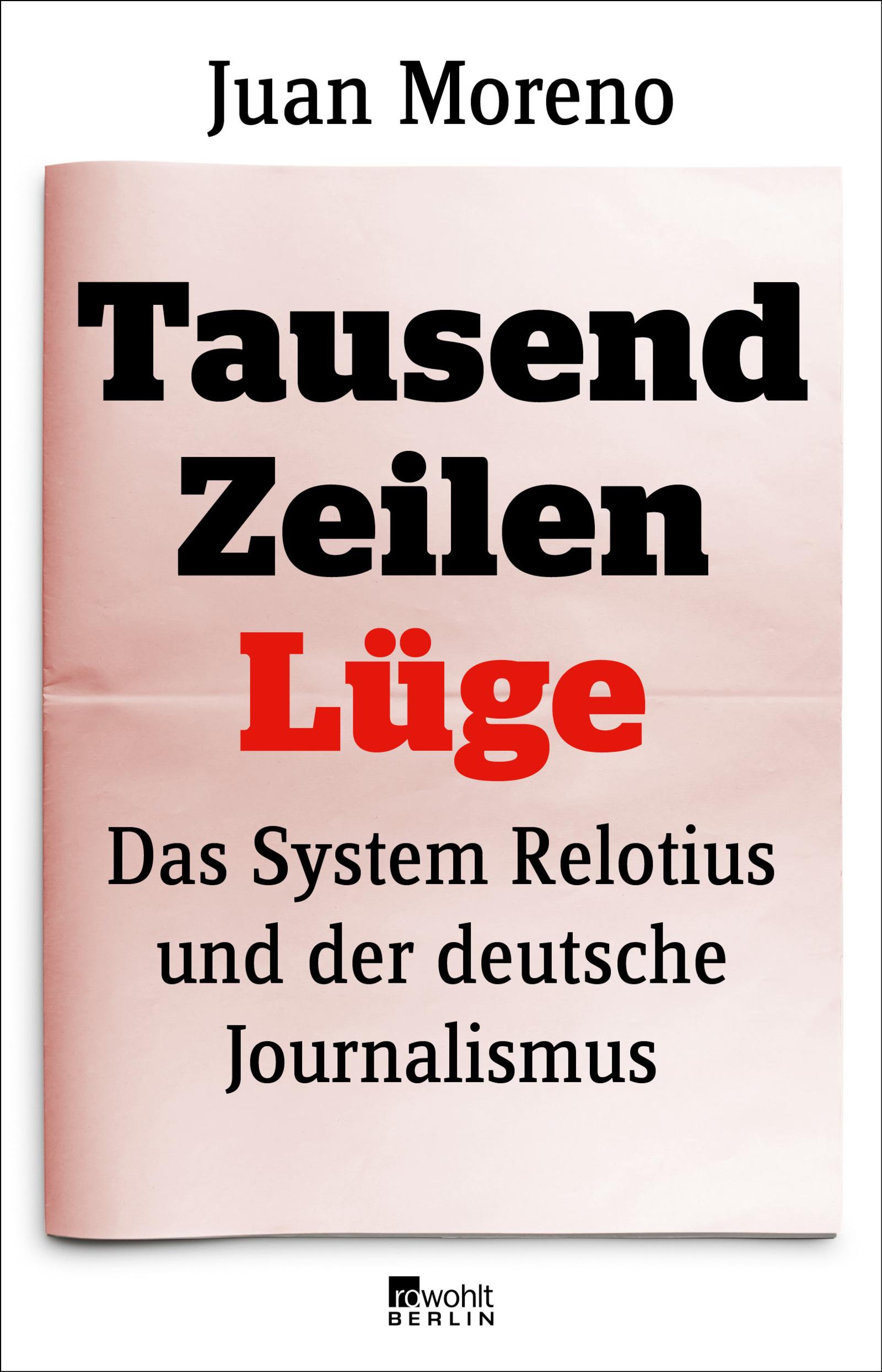 Buchcover von Tausend Zeilen Lüge
