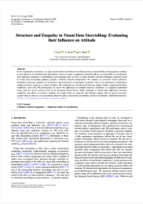 Screenshot of Structure and Empathy in Visual Data Storytelling